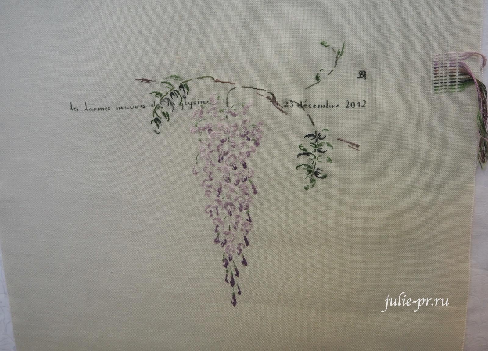 Marie-Therese Saint-Aubin (MTSA), книгаMerveilleuse nature au point de croix, глициния, вышивка крестом