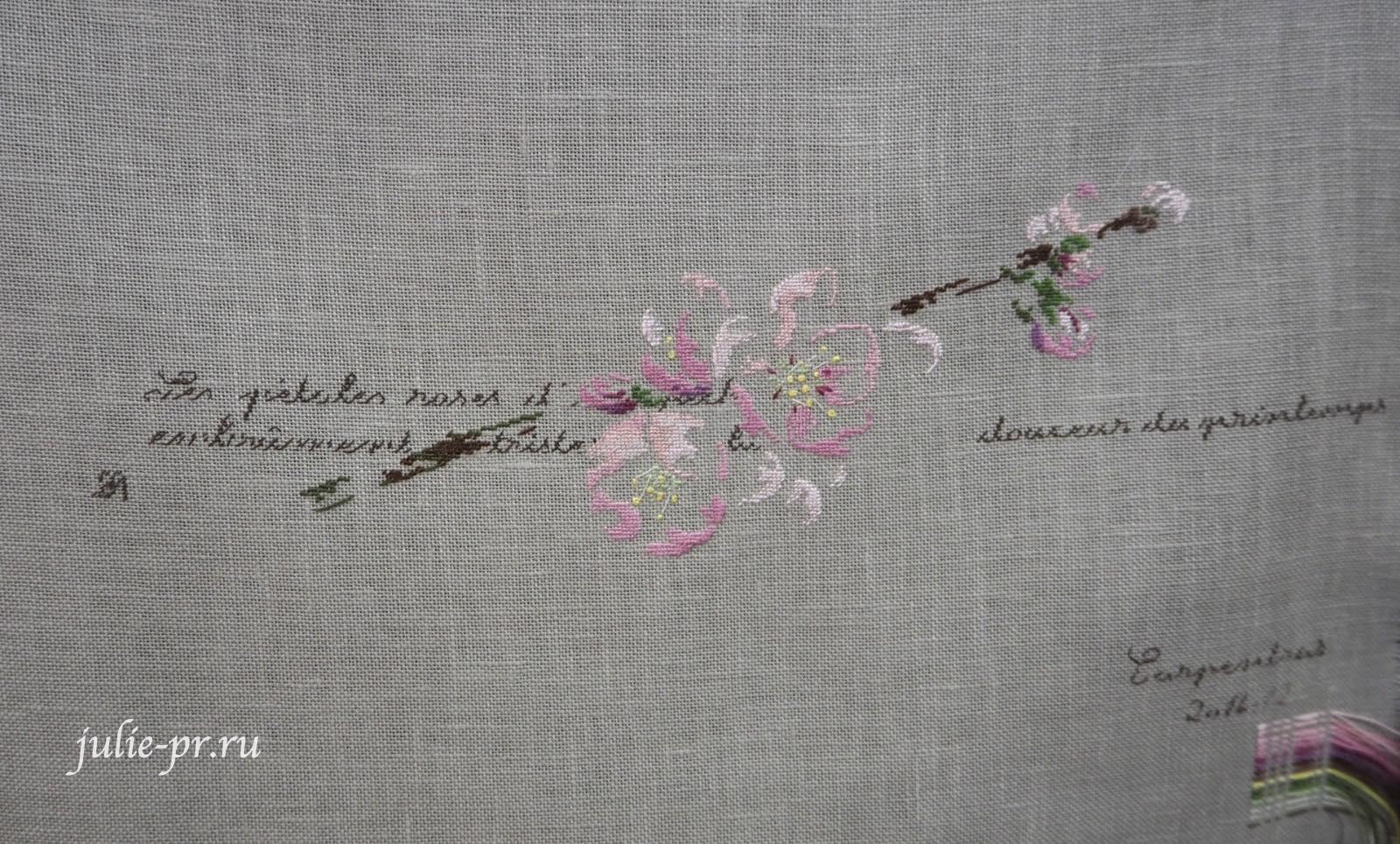 Marie-Therese Saint-Aubin (MTSA), книгаMerveilleuse nature au point de croix, Fleur de pecher, вышивка крестом
