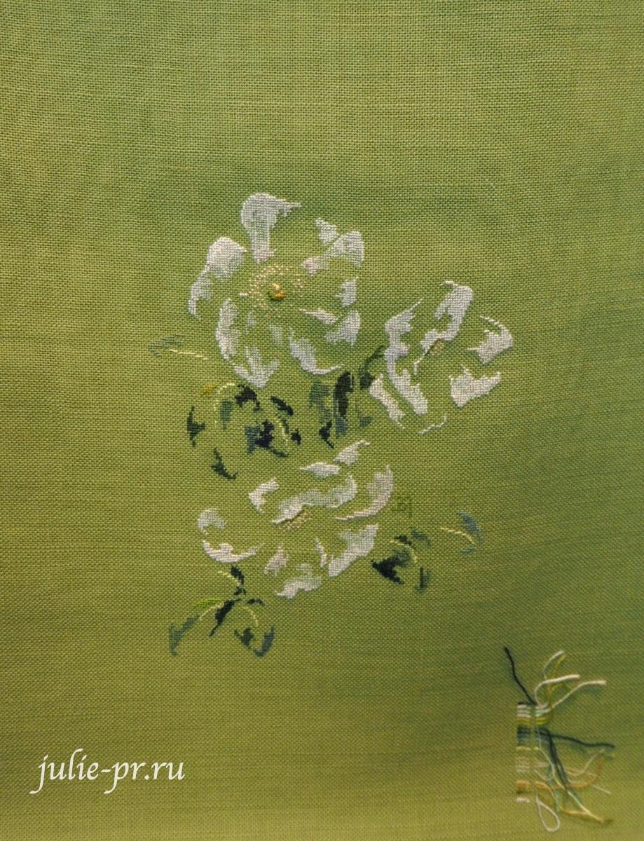 Marie-Therese Saint-Aubin (MTSA), книгаMerveilleuse nature au point de croix, белая роза, шиповник, вышивка крестом