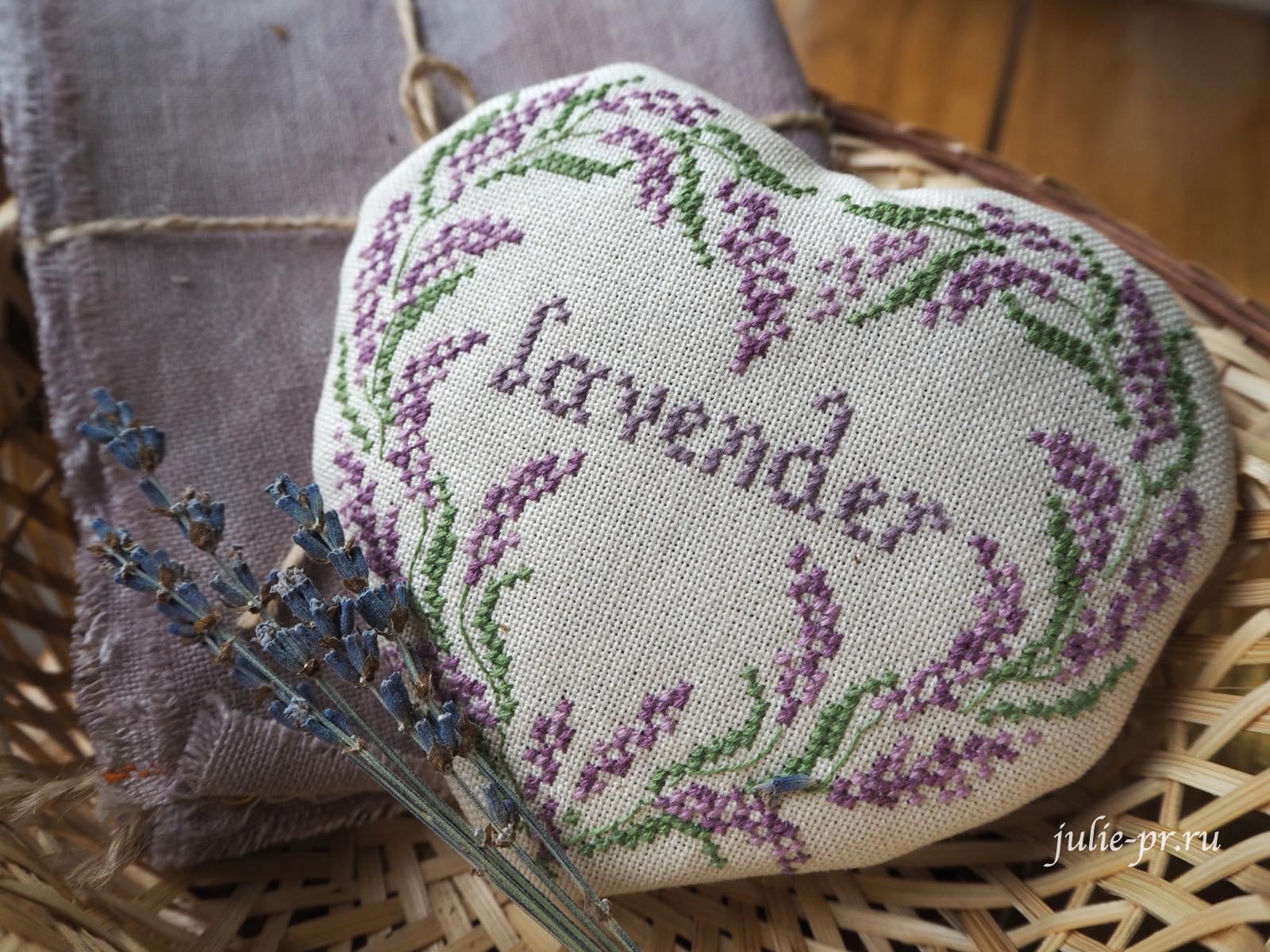 Cuore e Batticuore - Lavender Sampler, Лавандовый семплер, лаванда, вышивка крестом, лавандовое саше