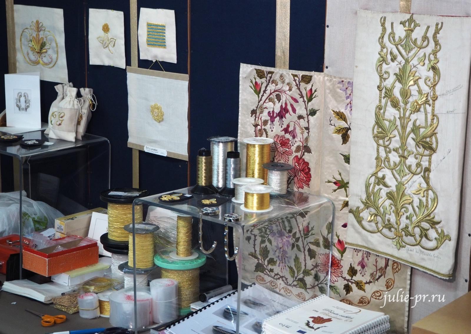 La broderie Or de Rochefort - золотная вышивка Рошфора, Création autour du fil