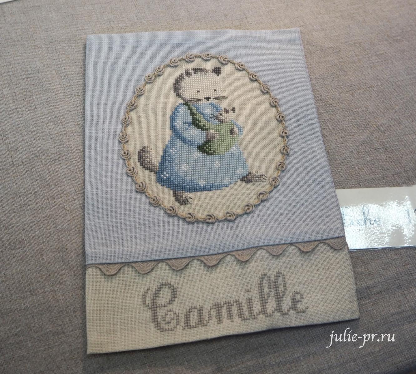 Le lin d'Isabelle, вышивка крестом, Création autour du fil