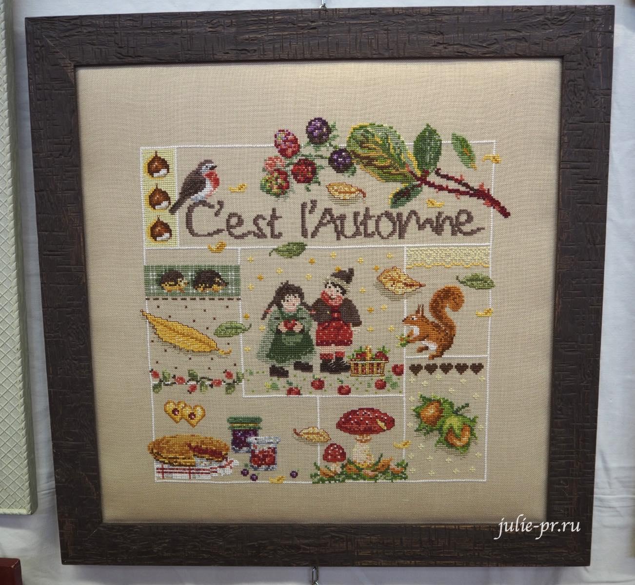 Madame la Fee - C'est l'automnem вышивка крестом, Création autour du fil