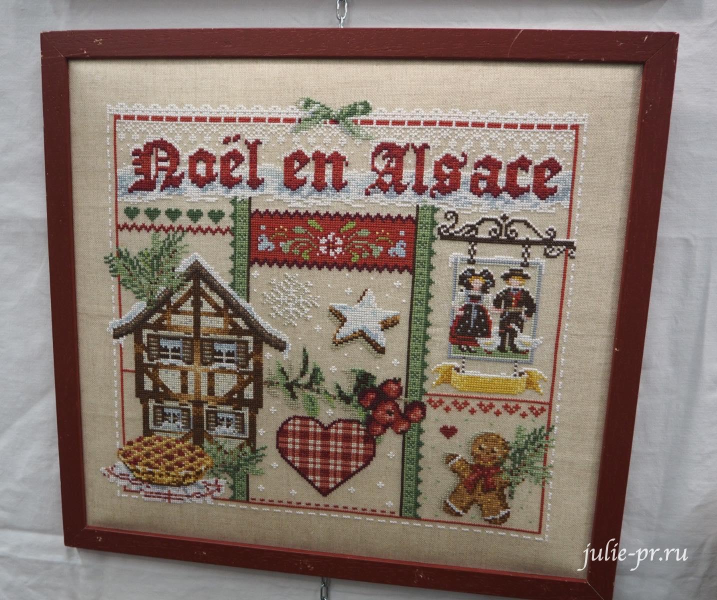Madame la Fee - Noel en Alsace, вышивка крестом, Création autour du fil