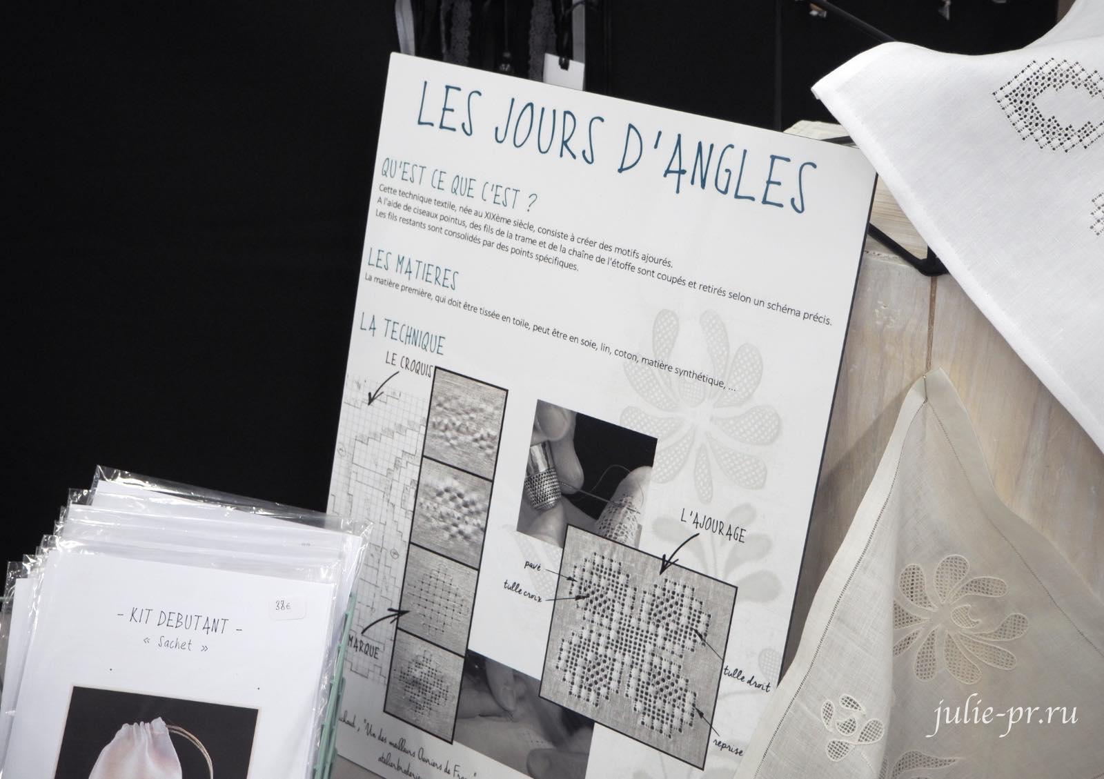 Les jours d'Angles (Stéphanie Michaud), Мережка, вышивка, Création autour du fil