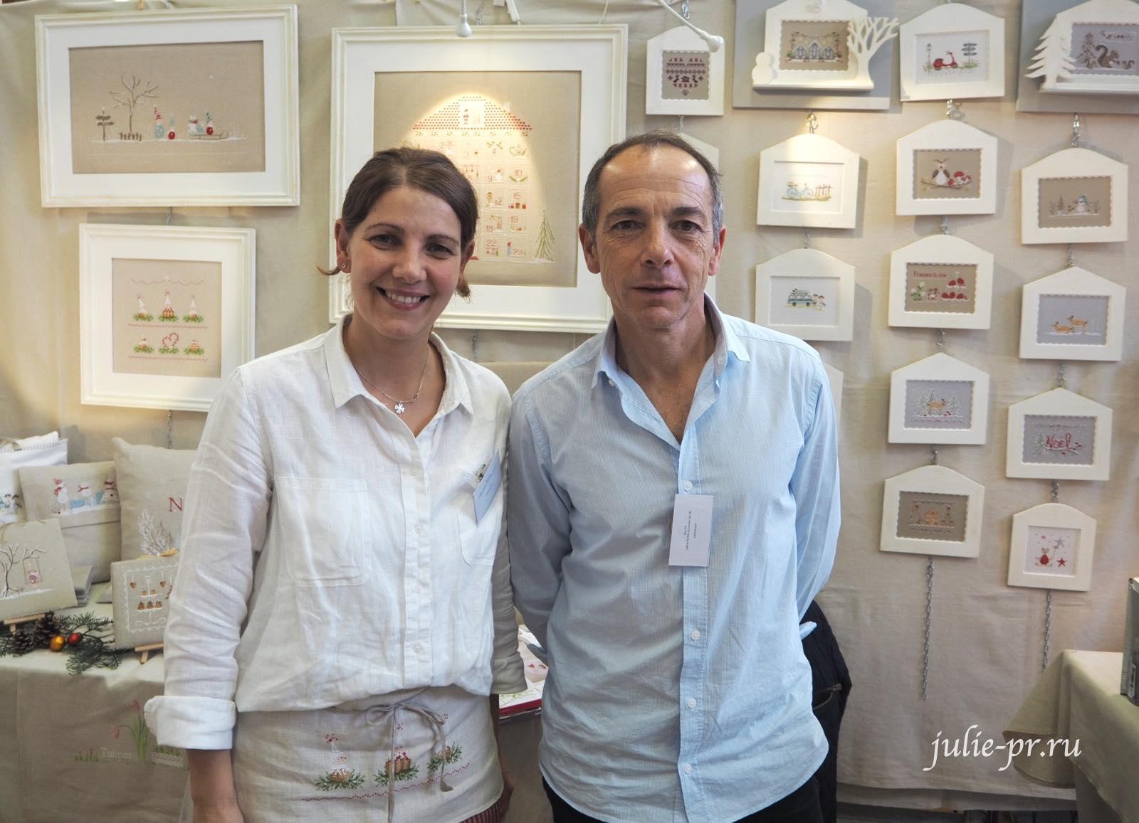 Jennifer и Nicolas Lentini, вышивка крестом, Création autour du fil