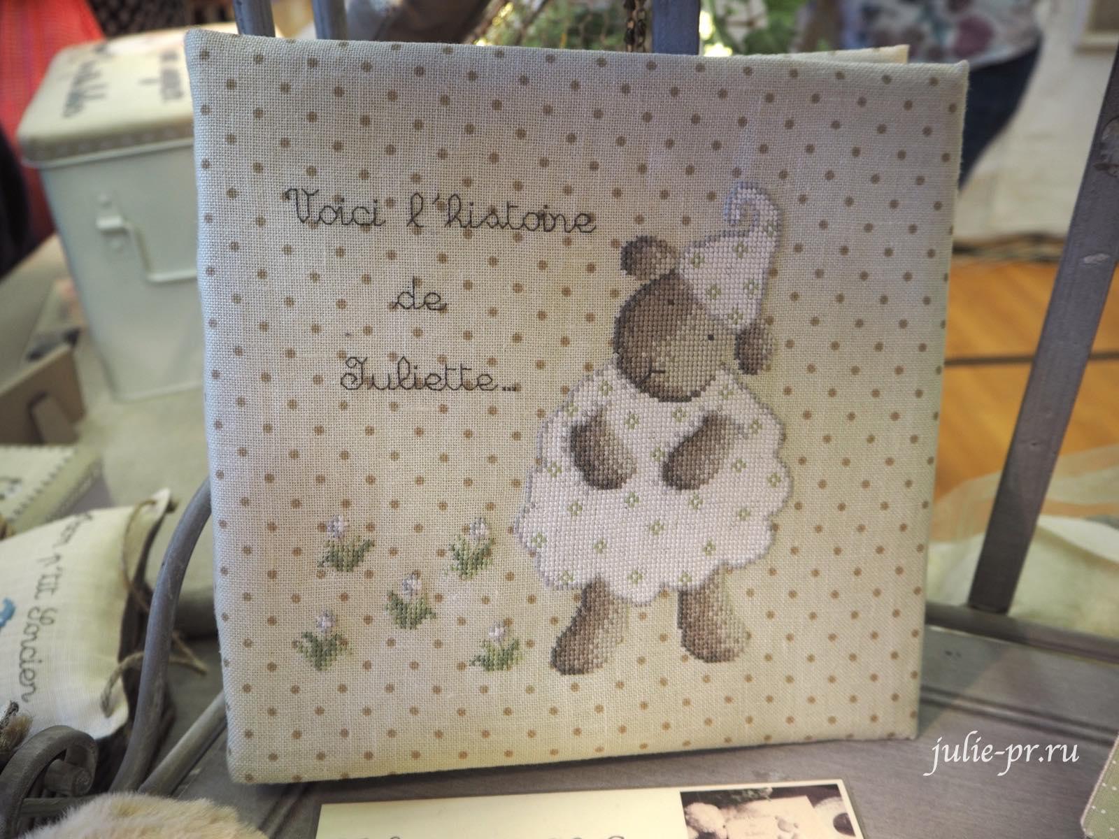 Le lin d'Isabelle - Mouton, вышивка крестом, Création autour du fil