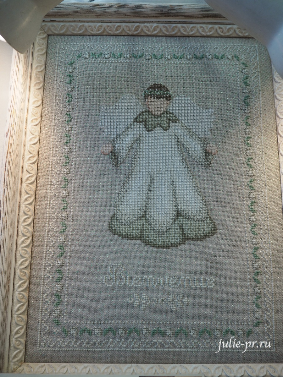 Le lin d'Isabelle - Ange Bienvenue, вышивка крестом, Création autour du fil