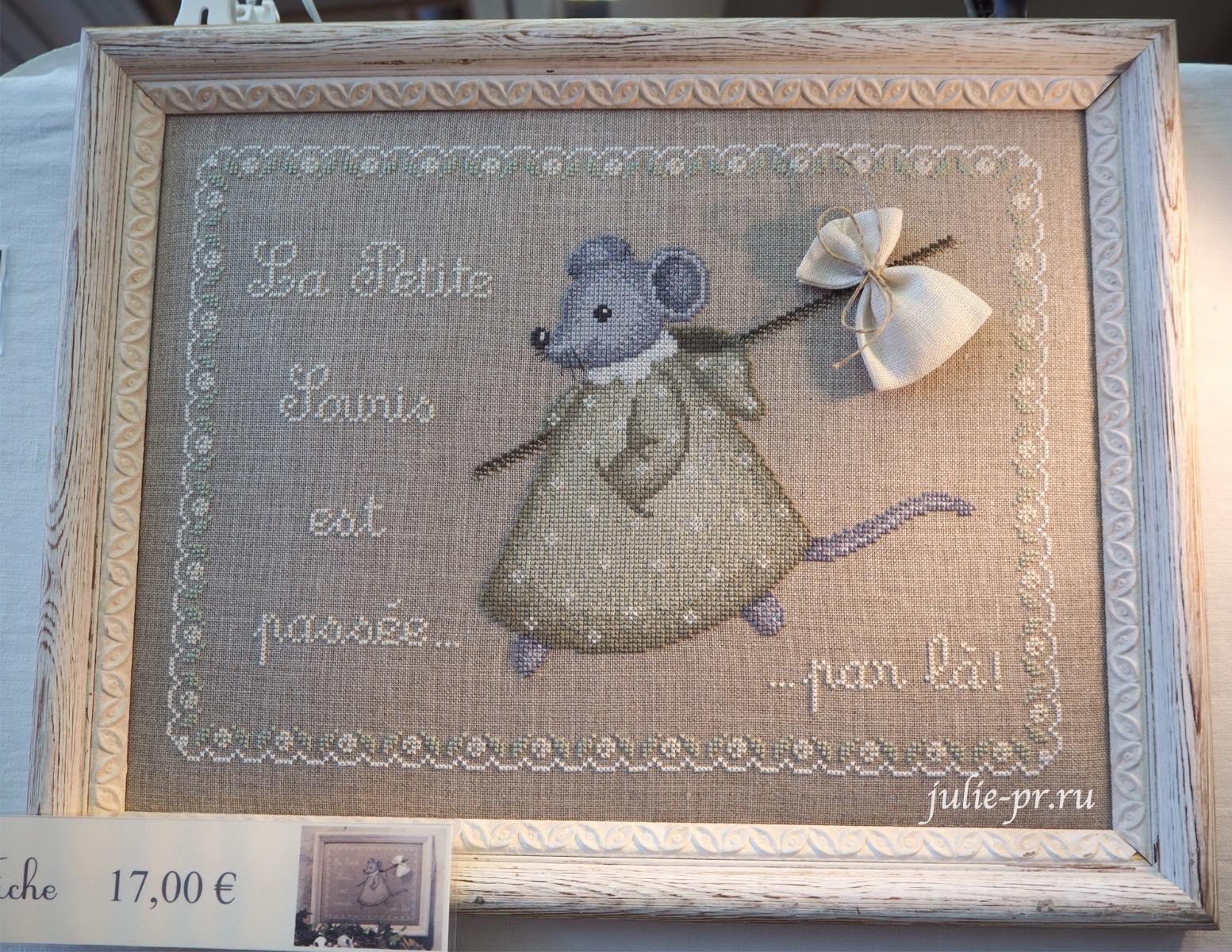 Le lin d'Isabelle - La petite souris est passee, вышивка крестом, Création autour du fil