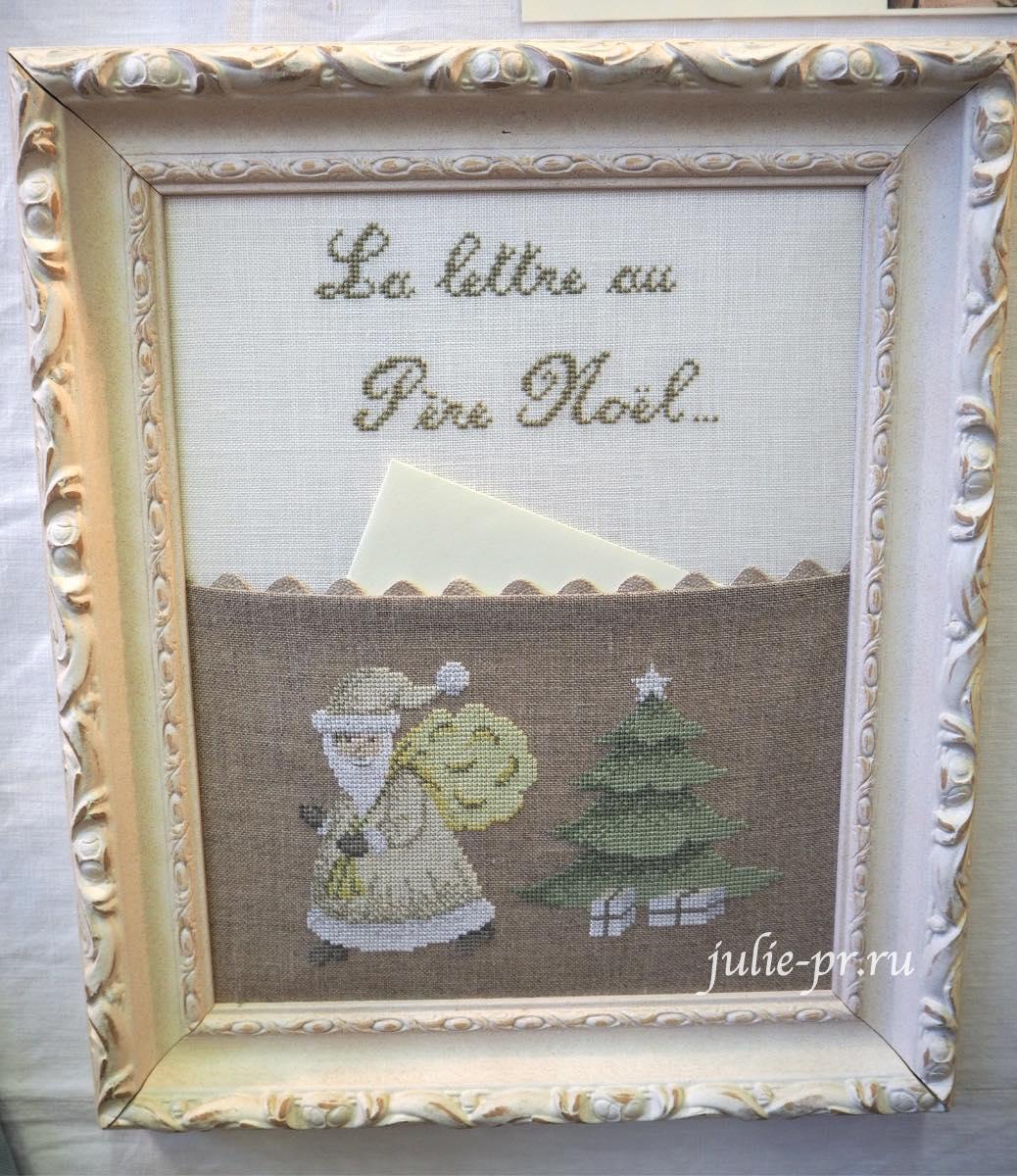 Le lin d'Isabelle - La lettre au Pere Noel, вышивка крестом, Création autour du fil