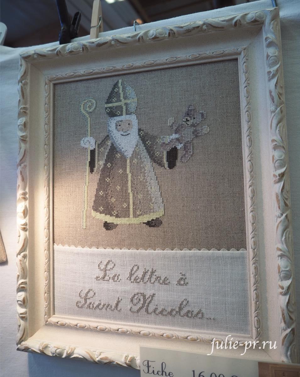 Le lin d'Isabelle - La lettre a Saint Nicolas, вышивка крестом, Création autour du fil