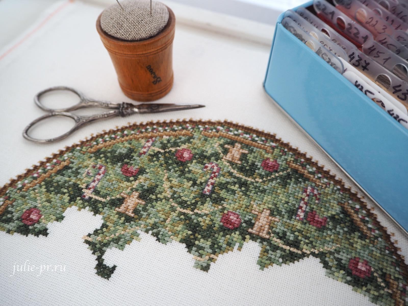 Teresa Wentzler - Under the Evergreen, вышивка крестом, тереза Венцлер, под елкой, елка