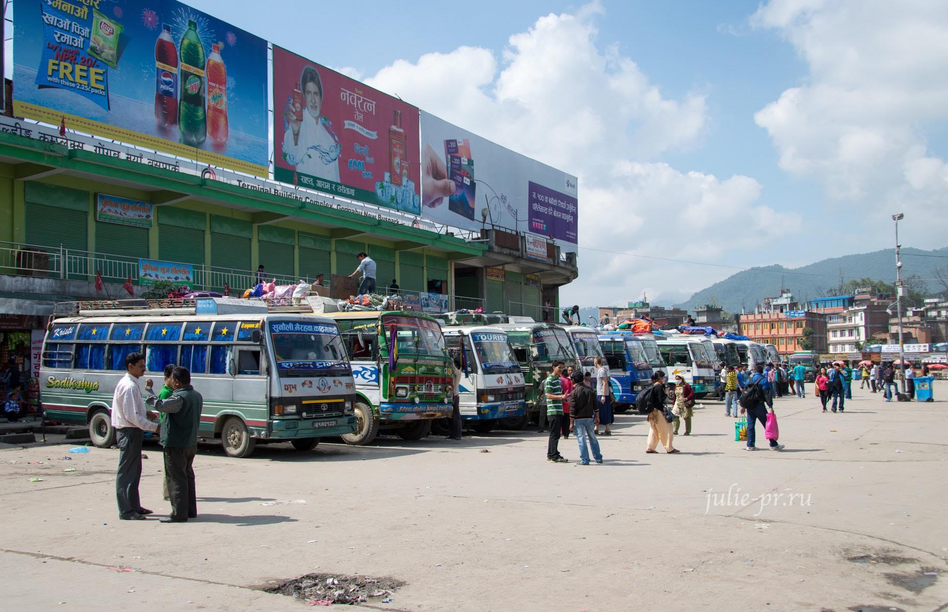 Непал, Катманду, автобус