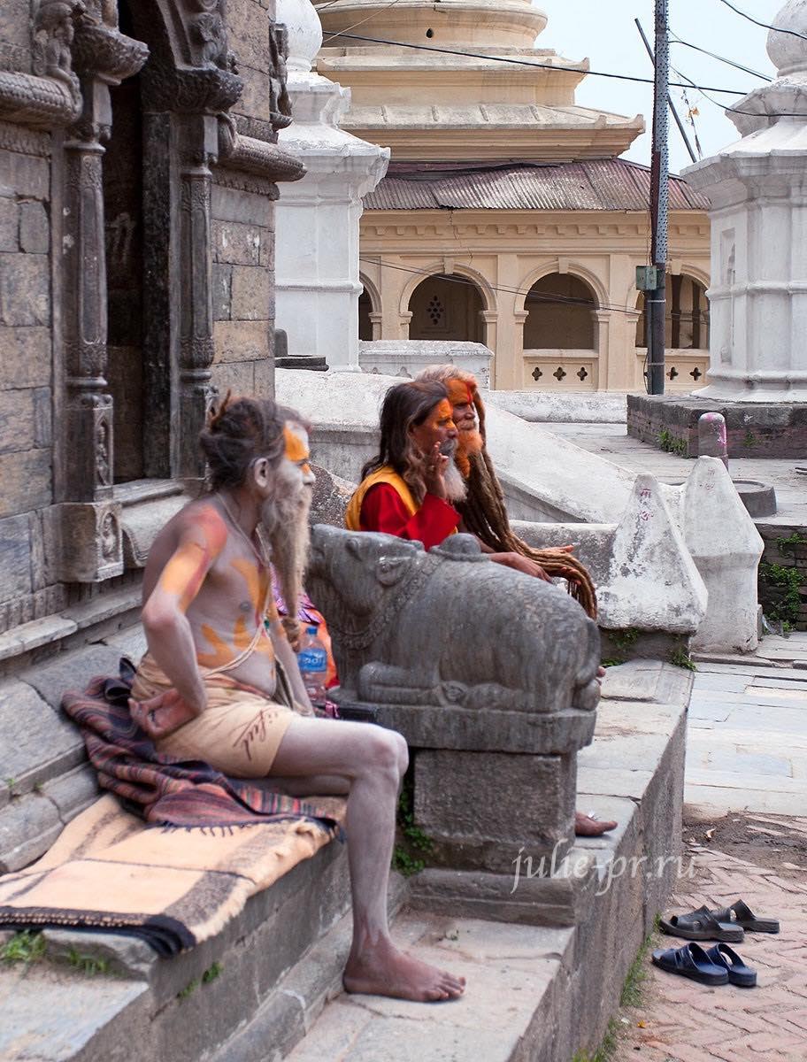 Непал, Катманду, Пашупатинатх, Садху