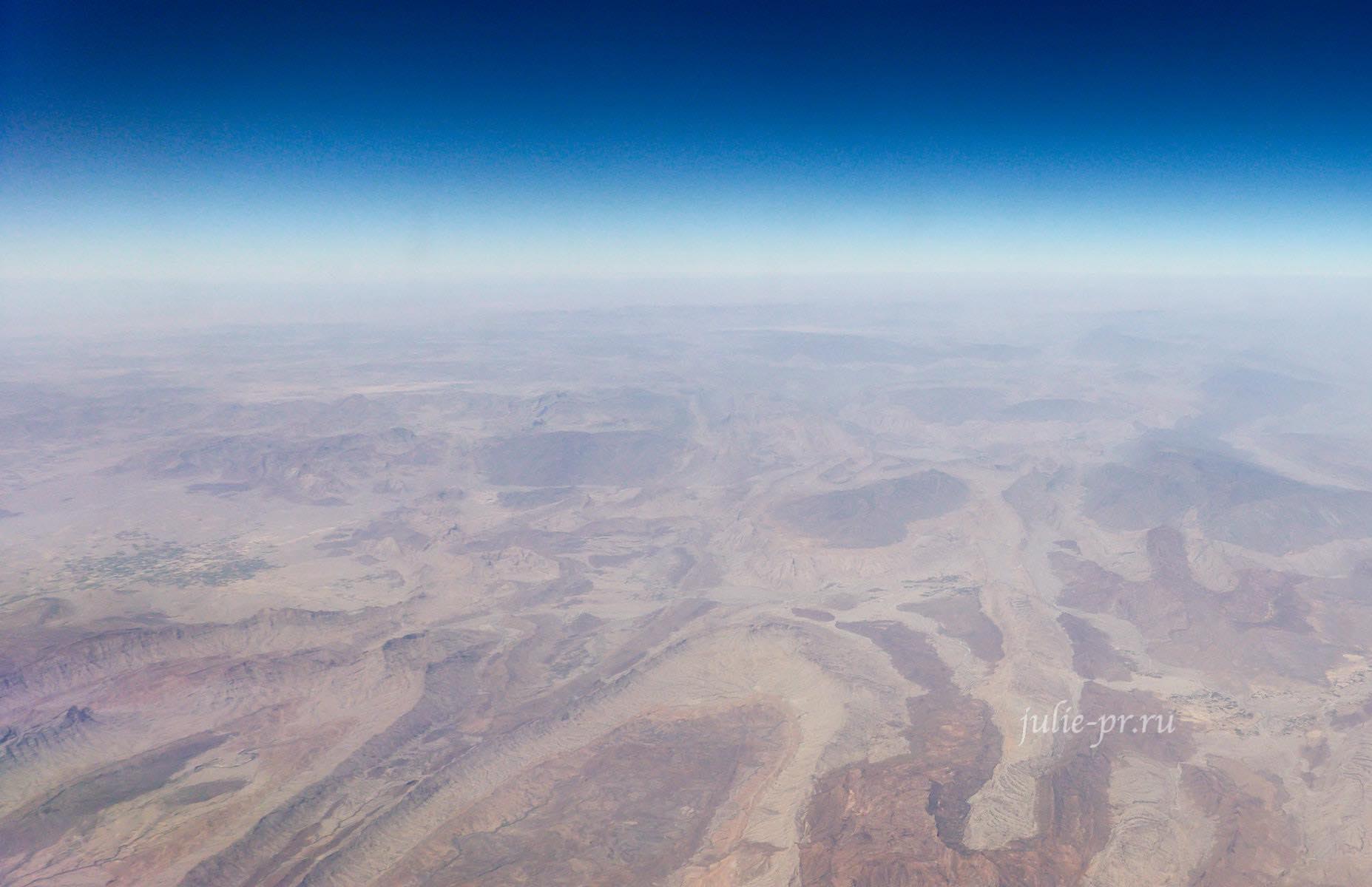 Пакистан вид с самолёта