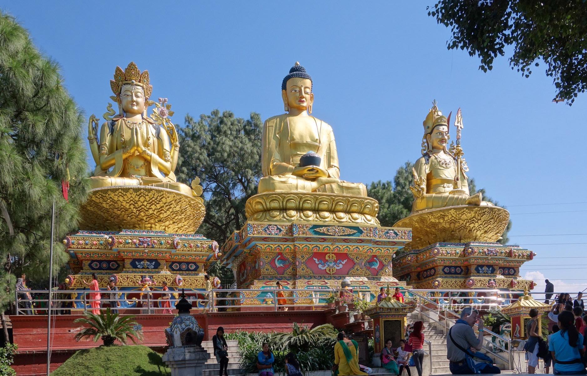 Непал, Катманду, Сваямбунатх, Будда, Майтрея, Падмасамбхава