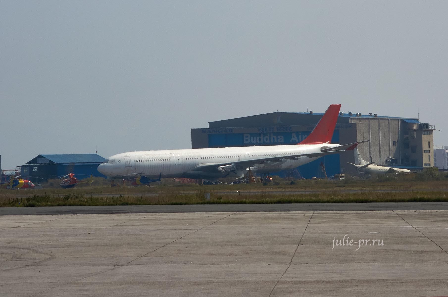 Непал, Катманду, аэропорт, турецкий A330