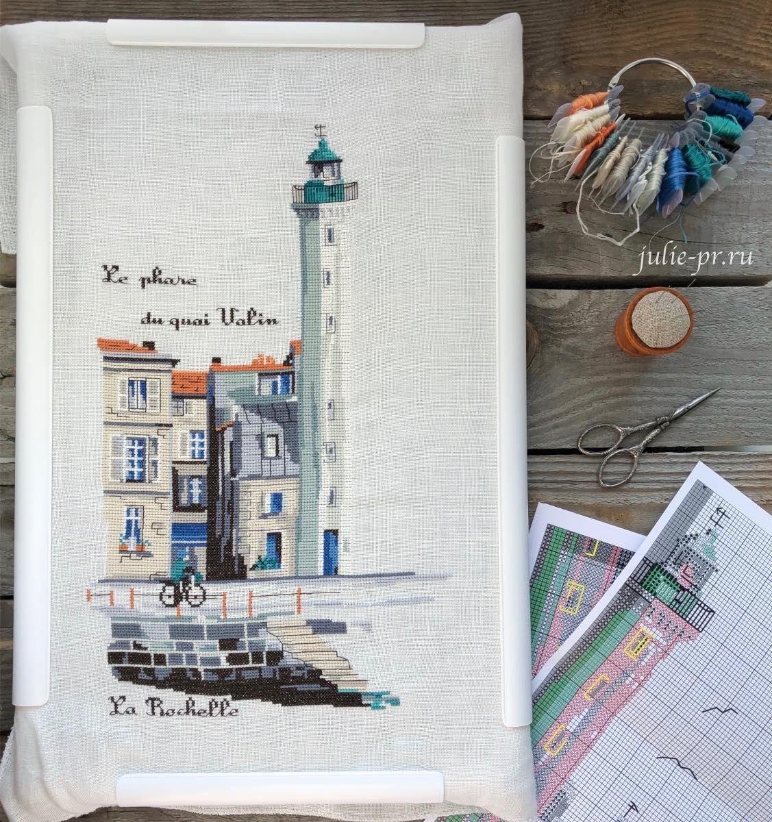 вышивка крестом, Isabelle Vautier, La Rochelle, Изабель Вотье, Ла Рошель, игольница Sajou, кольцо и бобинки для мулине