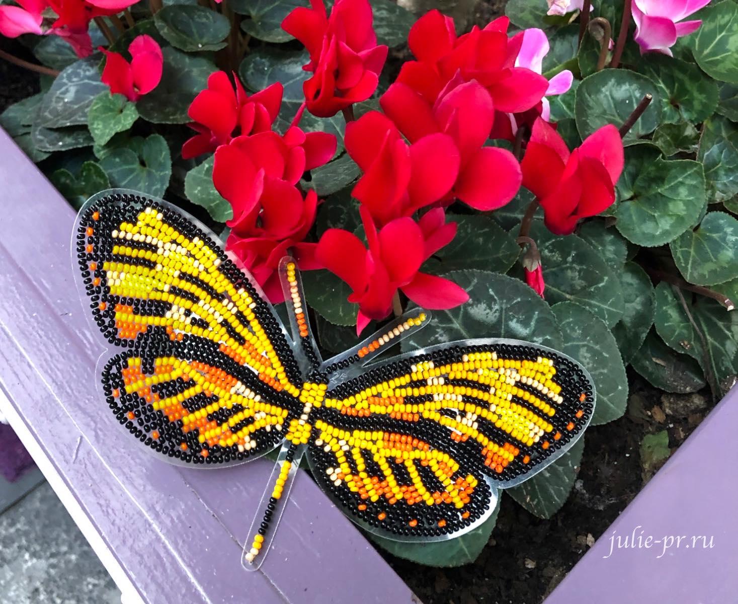 Бабочка Механитис Менапис, Вдохновение, вышивка бисером