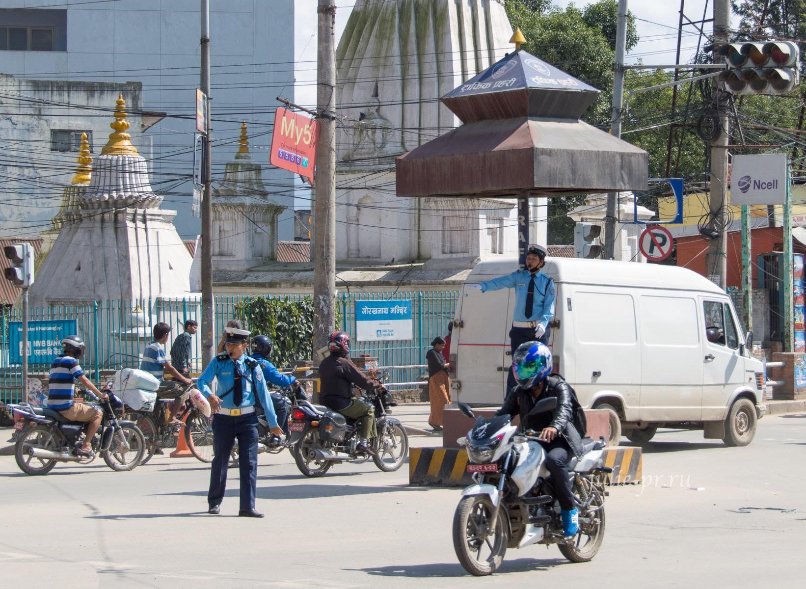 Непал, Катманду, регулировщики