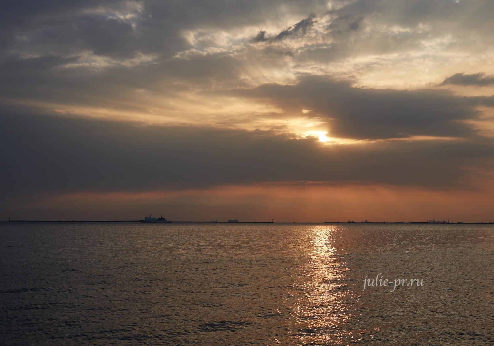 Филиппины, Манила, залив, закат