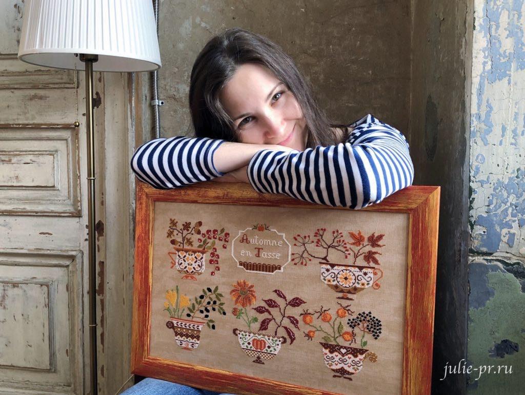 Cuore e Batticuore, Autunno in Tazza, осень в чашках, вышивка крестом, Юлия Лапутина