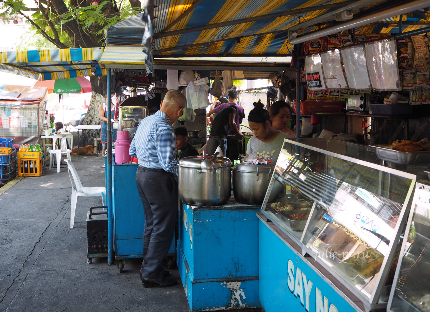 Филиппины, Манила, уличная еда