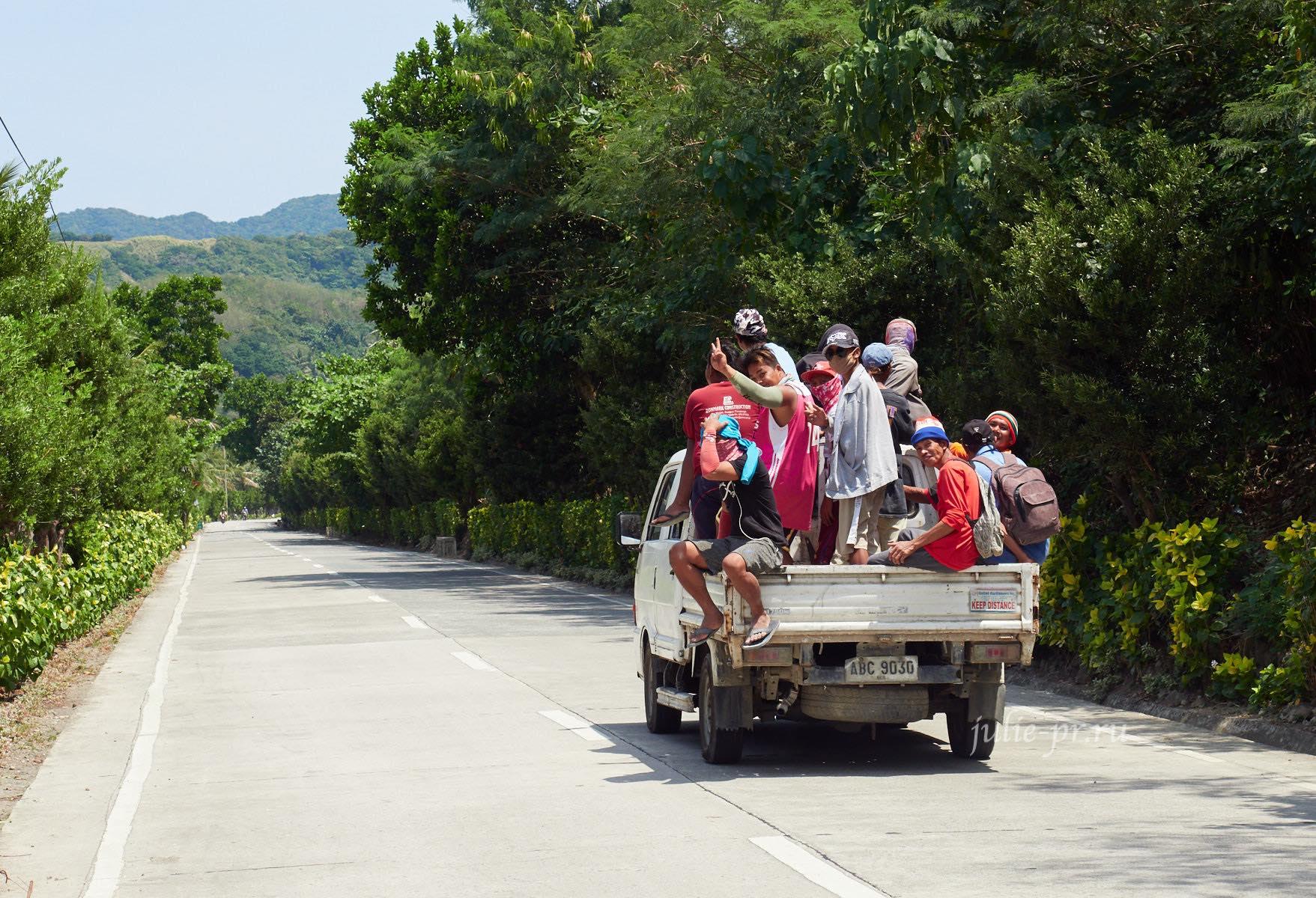 Филиппины, острова Батанес, грузовик с людьми