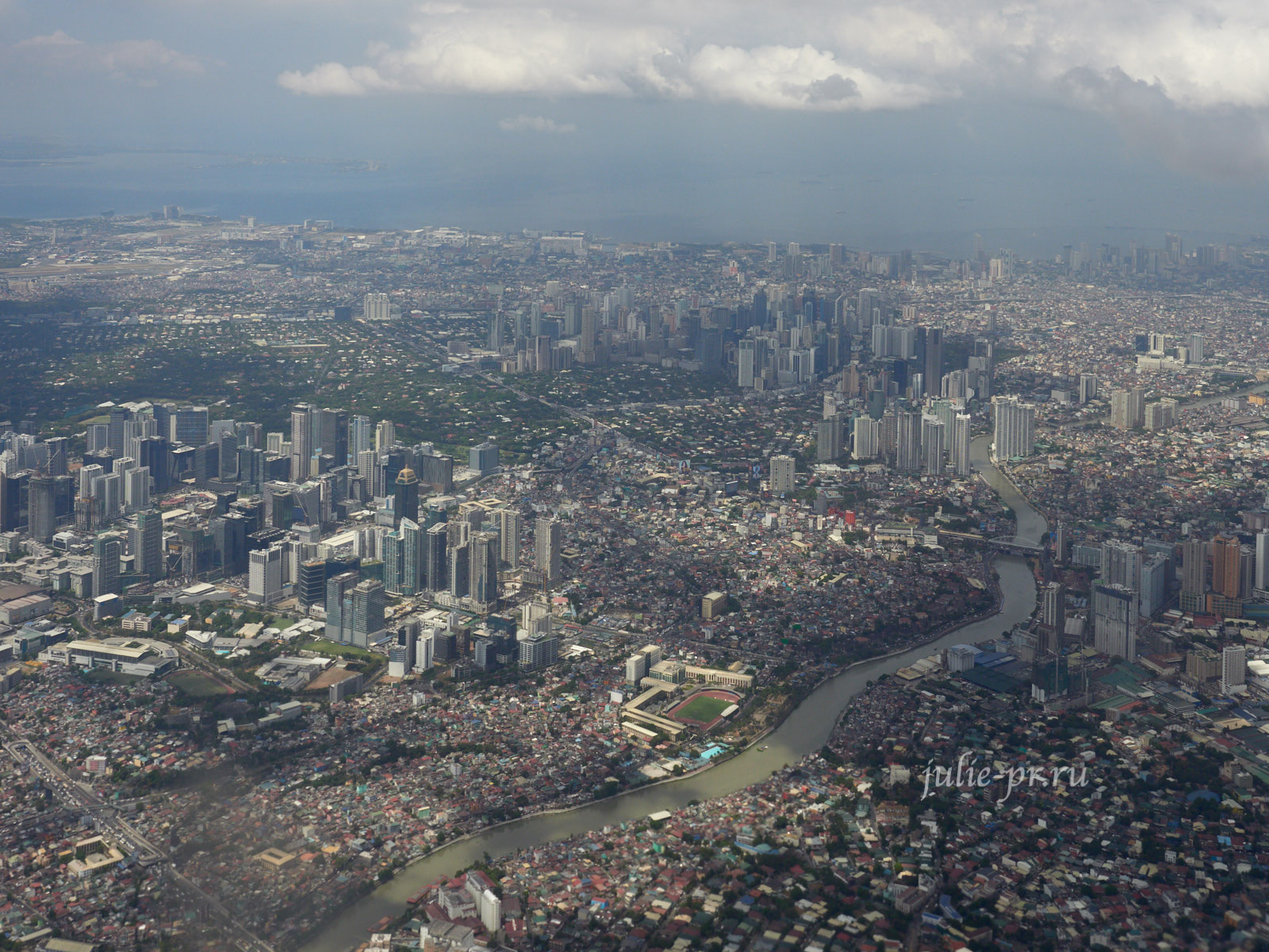 Филиппины, Манила, вид с самолёта