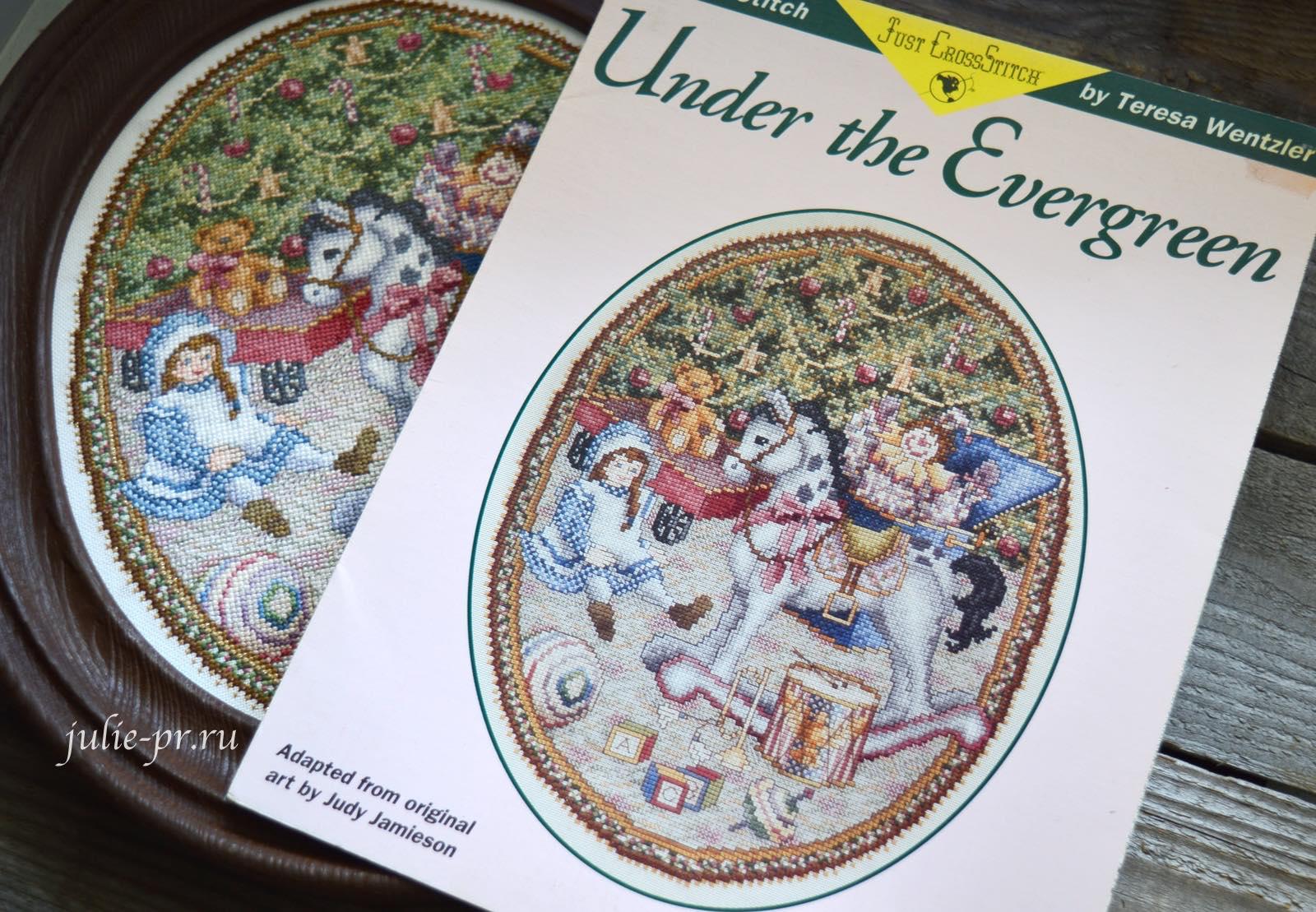 Teresa Wentzler, Under the Evergreen, под елкой, Тереза Венцлер, вышивка крестом, оригинальная схема, Just cross stitch