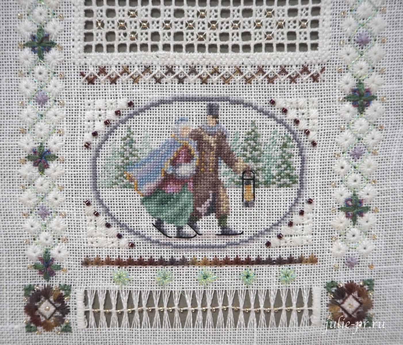 Тереза Венцлер, вышивка крестом, Teresa Wentzler - Miniature Winter Sampler, Миниатюрный зимний семплер, мережка, хардангер