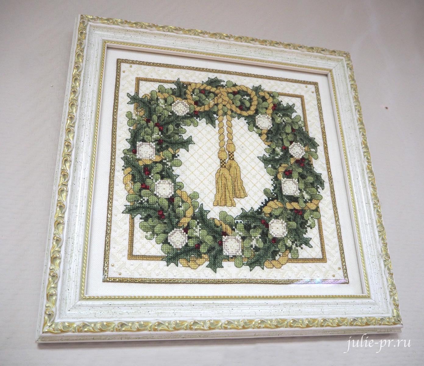 Тереза Венцлер, вышивка крестом, Teresa Wentzler - Christmas Wreath, Рождественский венок