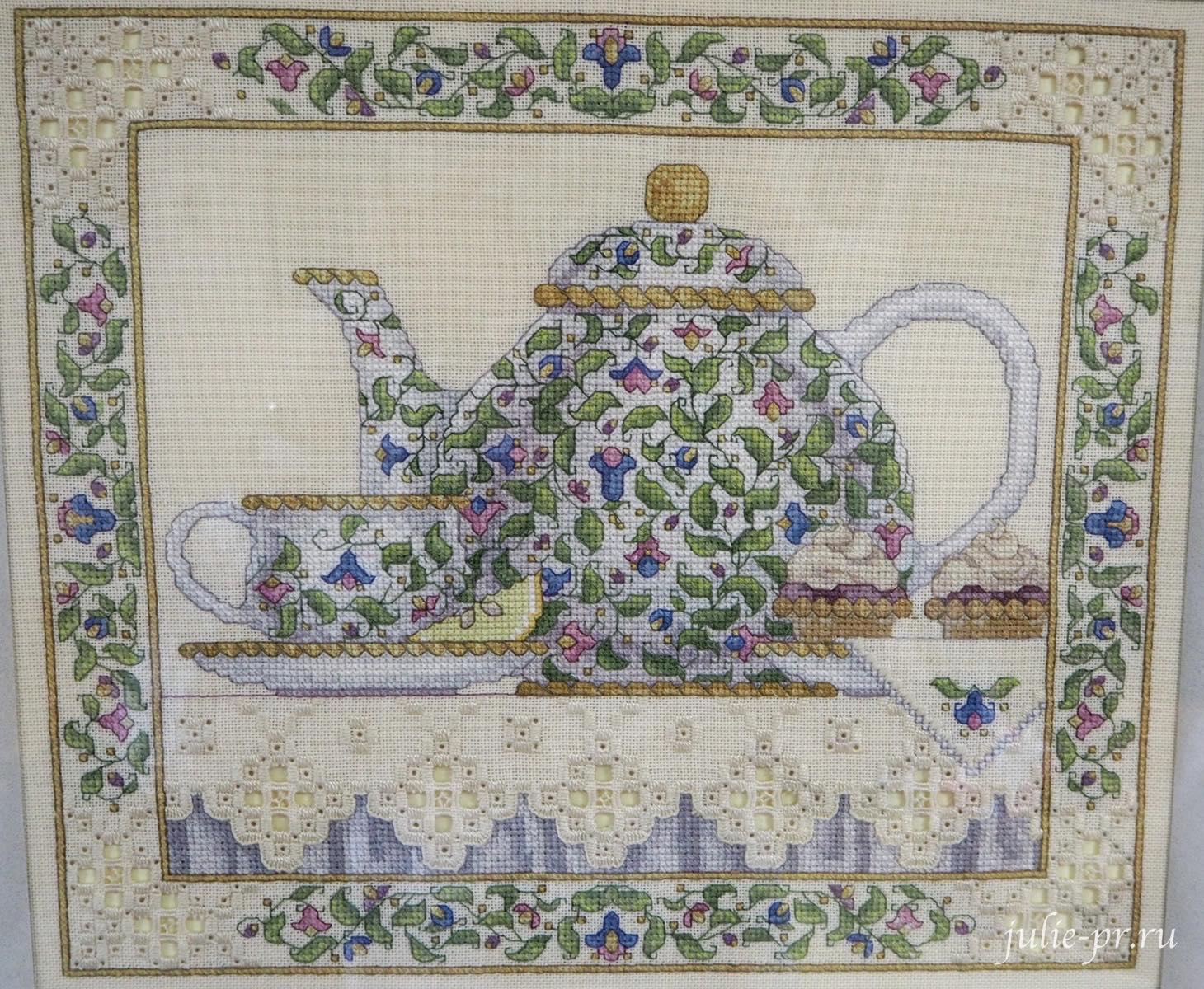 Тереза Венцлер, вышивка крестом, Teresa Wentzler, Tea Scene, Чайная церемония, хардангер