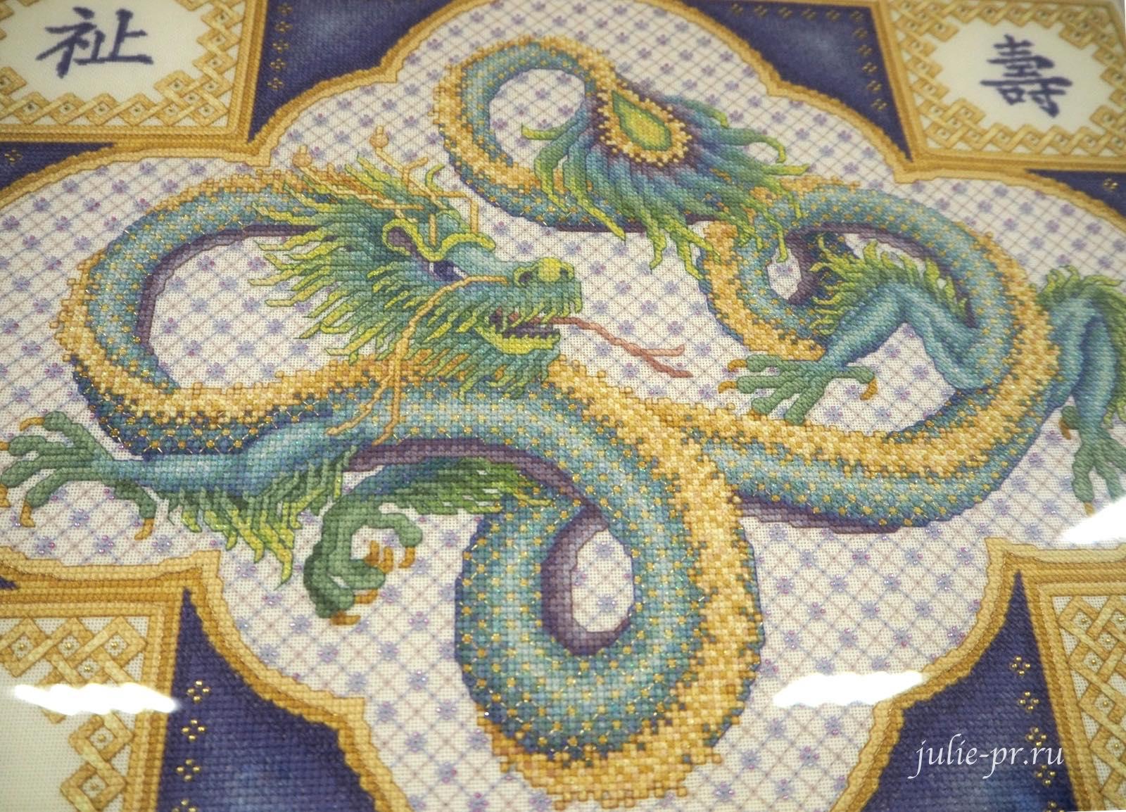 Тереза Венцлер, вышивка крестом, Teresa Wentzler, Celestial Dragon, Восточный дракон