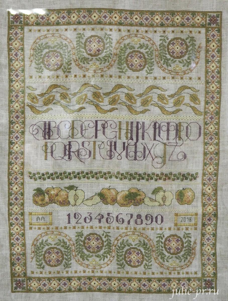 Тереза Венцлер, вышивка крестом, Teresa Wentzler, Harvest Sampler, Урожайный семплер