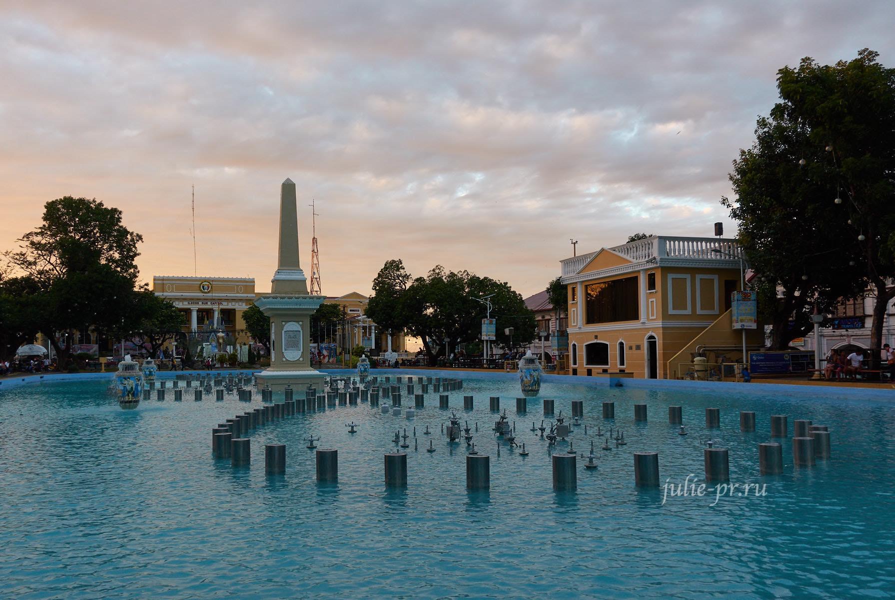 Филиппины, Виган, фонтан