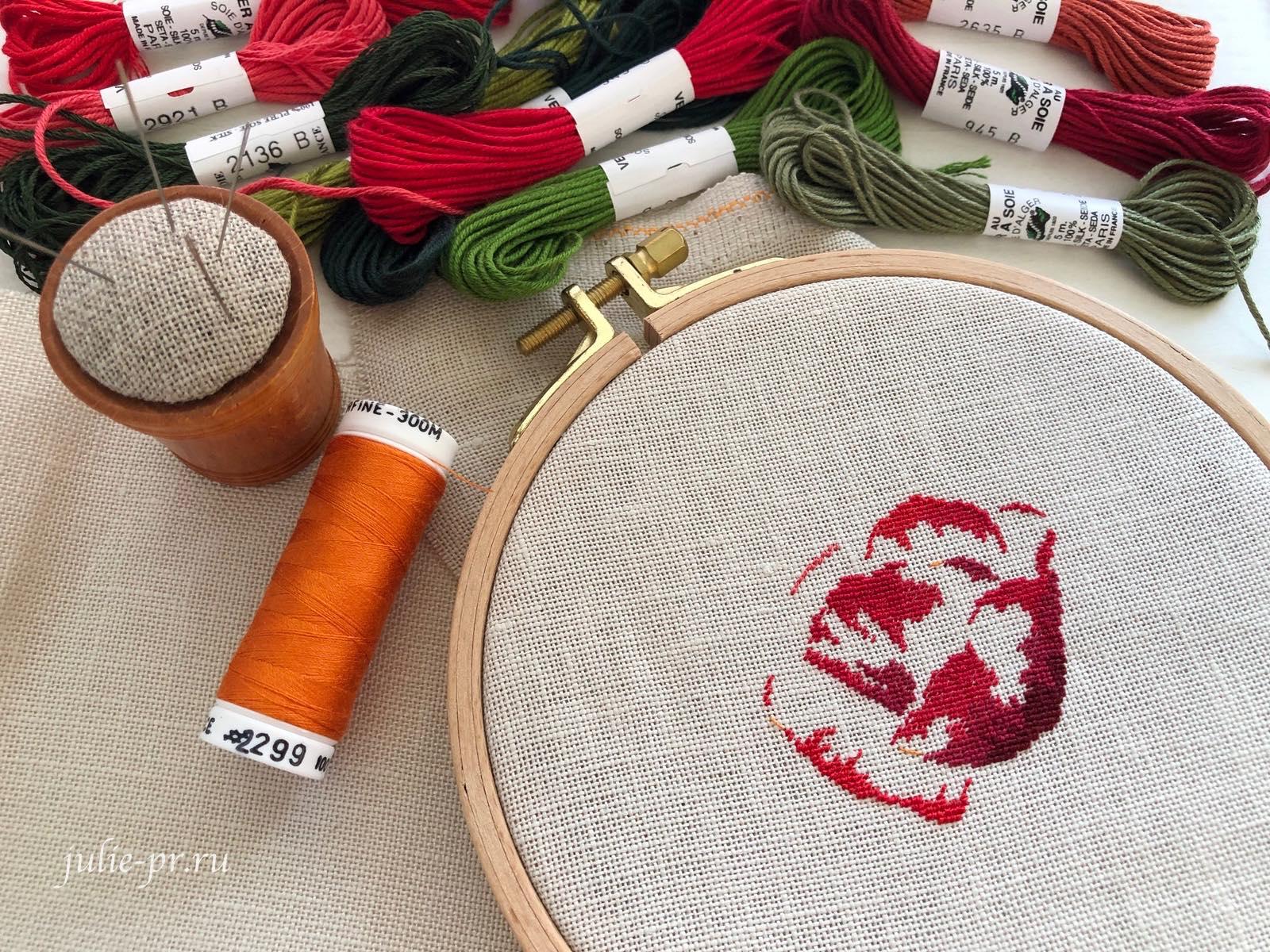MTSA - Un coquelicot, petit point, вышивка крестом, мак, шелк Au ver à soie