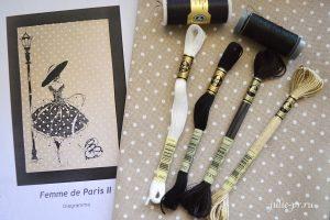 Soizic, Femme De Paris 2, Парижанка, вышивка крестом, Суазик