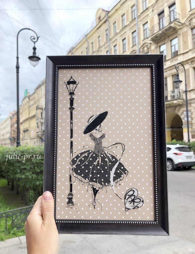 Soizic, Femme de Paris 2, Парижанка, вышивка крестом, Суазик, вышивка гладью