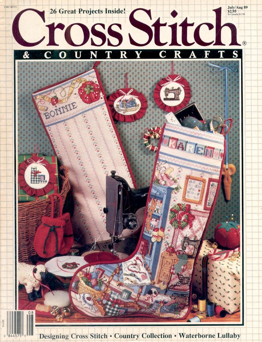 Cross Stitch and Country Crafts июль/август 1989