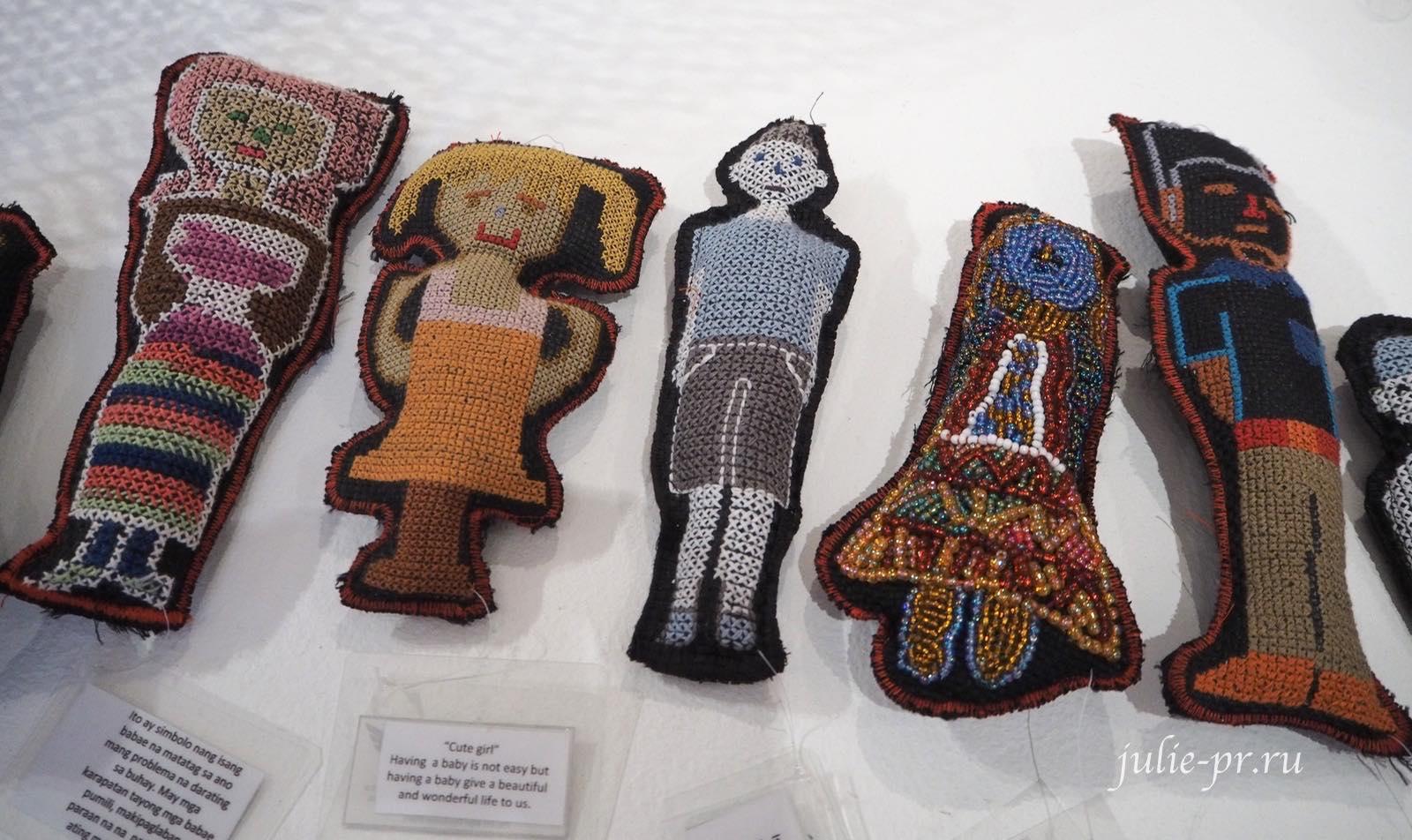 куклы выставка, Bayaning Inday, вышивка, Филиппины, Манила, вышивка крестом