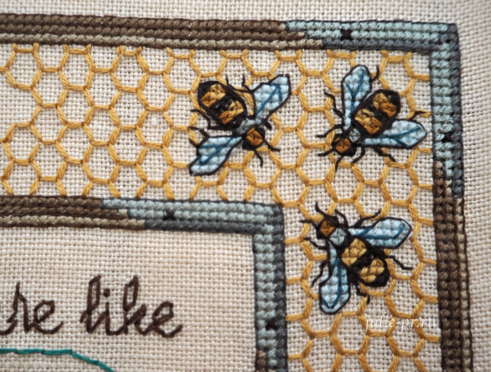 вышивка крестом, Gathering honey, Сбор мёда, журнал Cross Stitch and Country Crafts, Sandy Orton