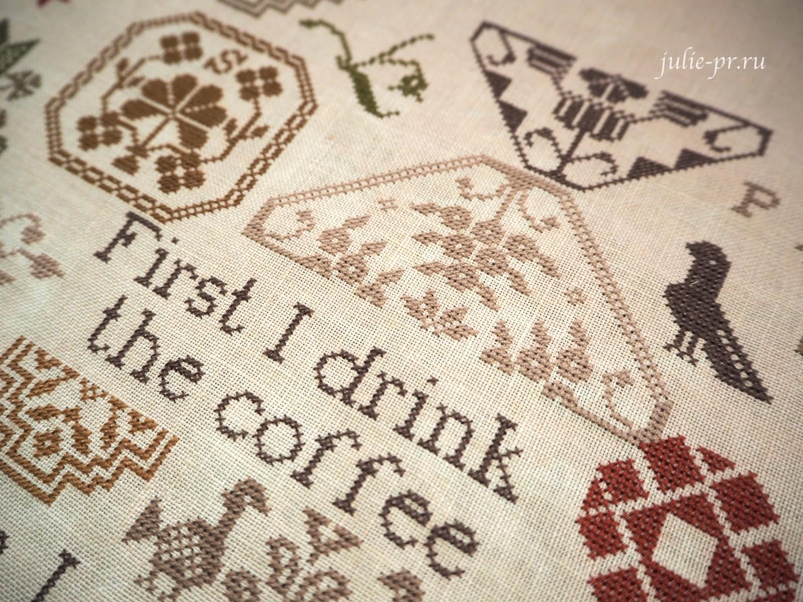 Вышивка крестом, Coffee quaker... the Magical Elixir Series N2/ Кофейный квакер,Heartstring Samplery, кофе, кофейный квакер