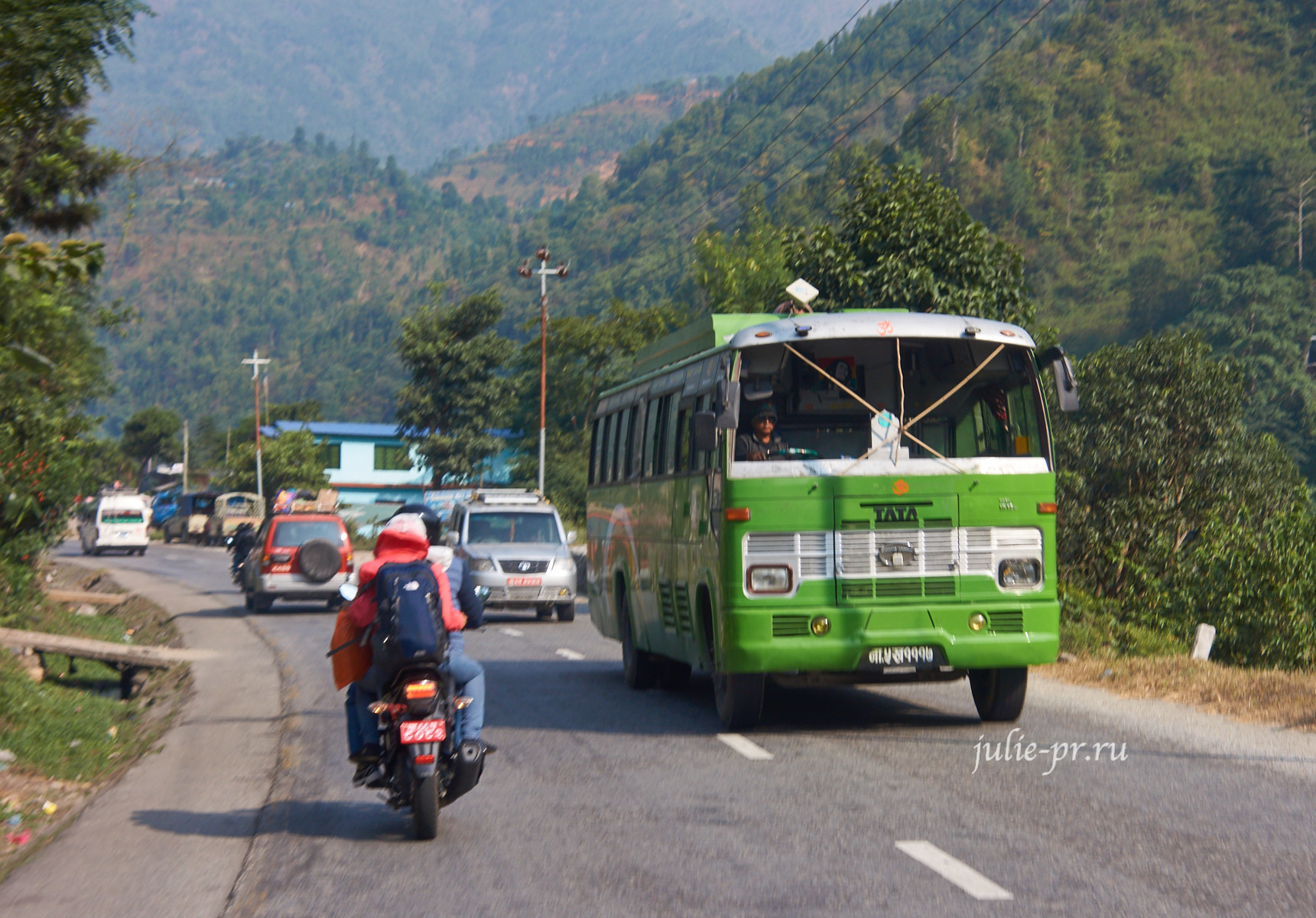Непал, дорога, автобус