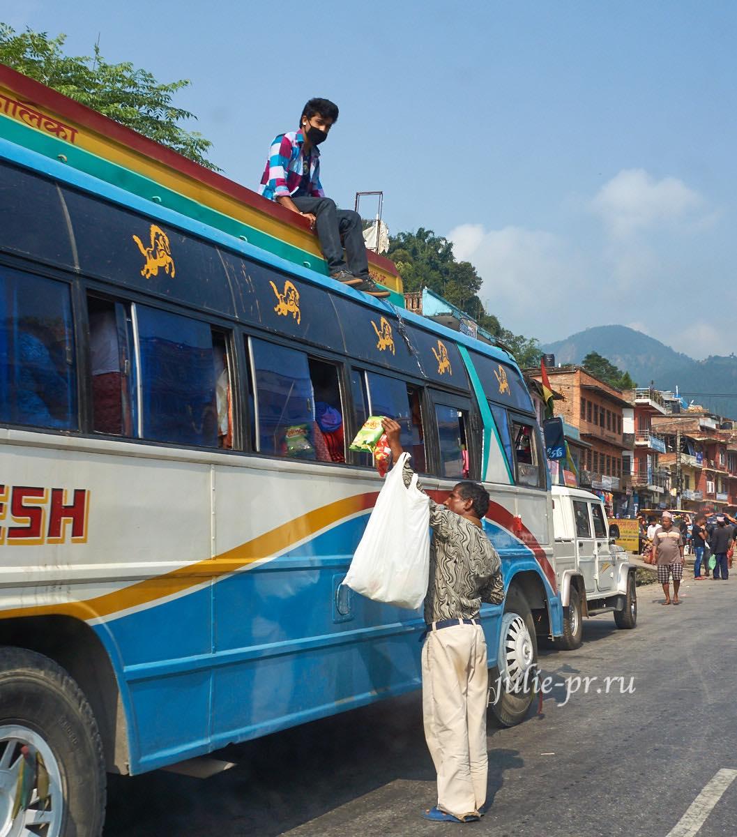 Непал, автобус