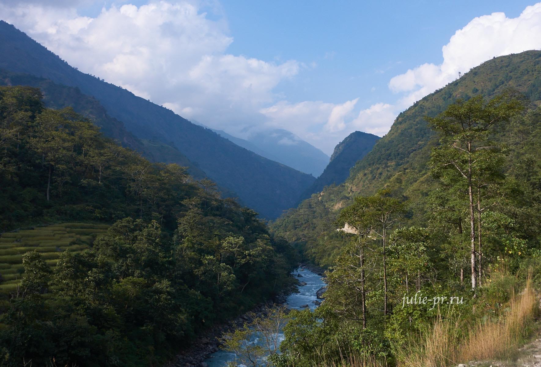 Непал, Аннапурна, река Марсъянди