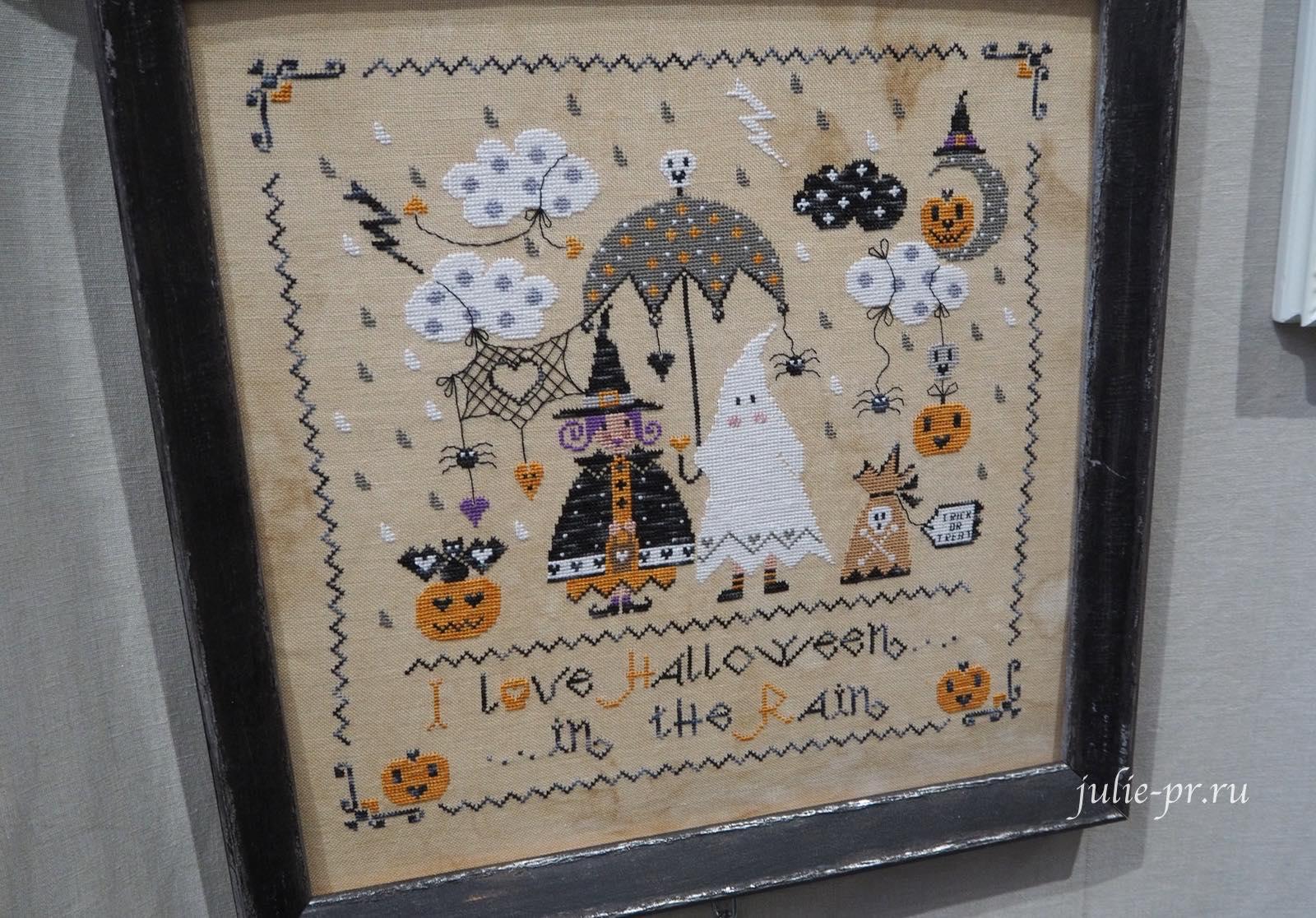 Cuore e Batticuore, Halloween in the Rain, хеллоуин под дождем, вышивка крестом