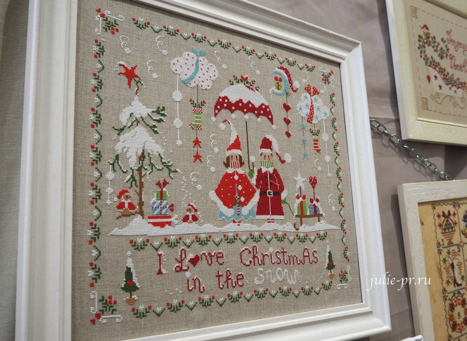Cuore e batticuore, Christmas in the Snow, Снежное Рождество, вышивка крестом