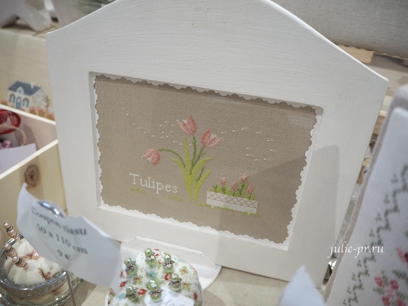 Jennifer Lentini, Tulipes, тюльпаны, вышивка крестом