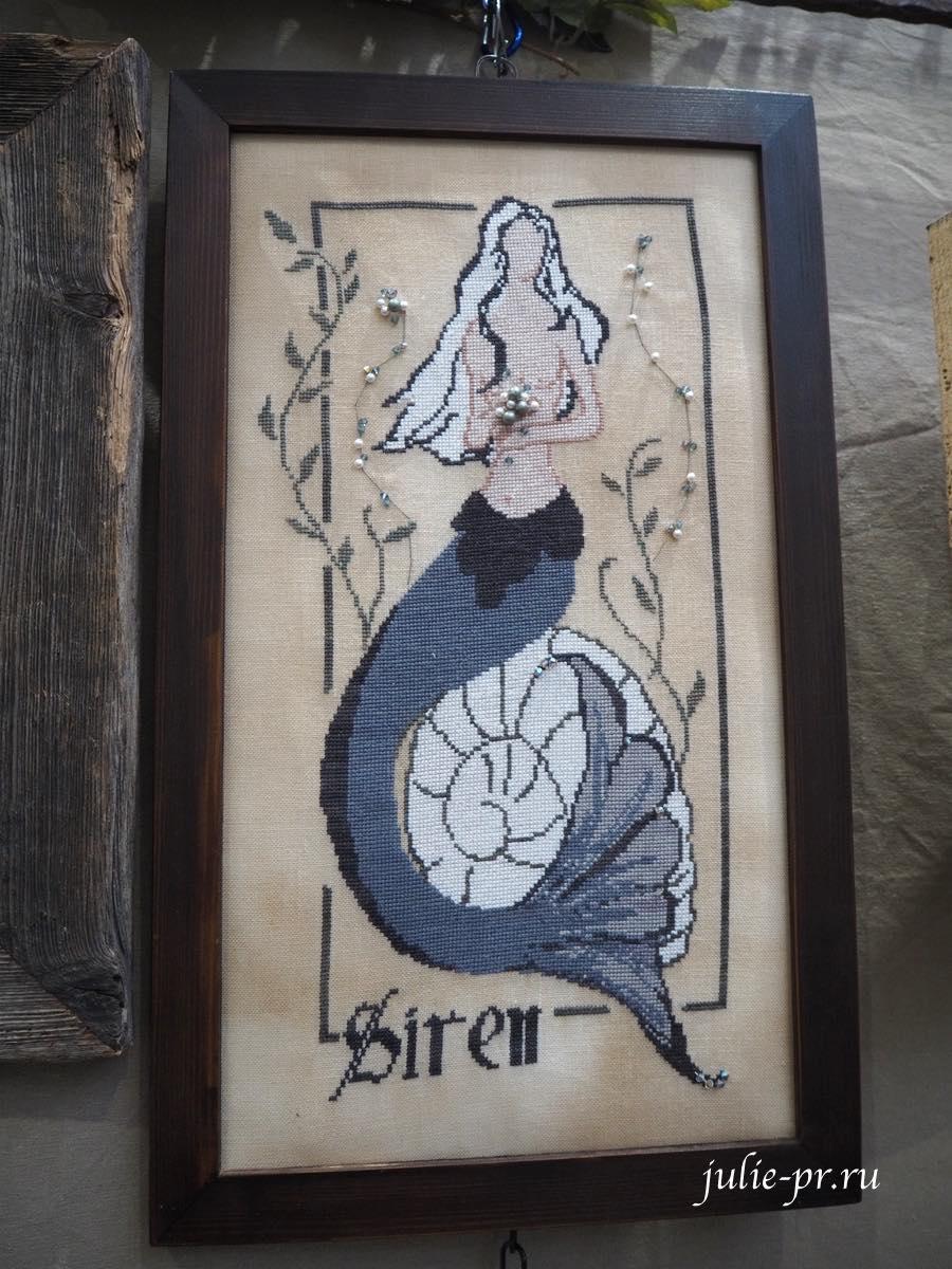 The Siren, Сирена, русалка, The primitive hare, примитивный заяц, вышивка крестом